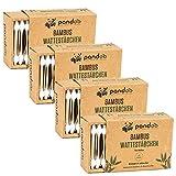 pandoo 4er Pack Bambus Wattestäbchen