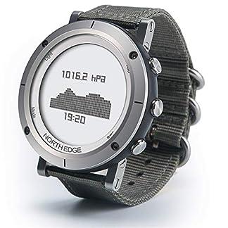 Reloj deportivo, Reloj multifuncional de altímetro meteorológico Termómetro digital Monitor de clima Escalada Trekking Camping Senderismo Exterior, prueba de ritmo cardíaco altímetro barómetro