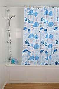 Croydex Coast Rideau de douche en textile 180 x 180 cm