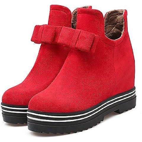 Mujeres moda cálida dentro de cuñas Martin botas botas de nieve , red , 39