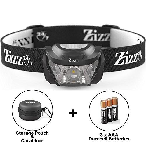Hochleistungs-Stirnlampe mit leistungsstarker Cree LED wasserdichte und superhelle Lampe für Laufen Angeln Radfahren Camping Nachtwandern Gassigehen DIY mit Rotfilter Aufbewahrungstasche Batterien