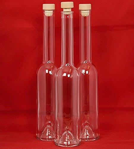 Preisvergleich Produktbild 20 x 100 ml leere Glasflaschen. Weitere Größen 100ml, 200ml, 350ml und 500ml. Opera Flaschen mit Holzgriffkorken 0,1/ 0,2 / 0,35/0,5 Liter Likörflaschen, Schnapsflaschen, Essigflaschen, Ölflaschen zum selbst Abfüllen. ESSIG und ÖL Flaschen mit Verschluss von SLK GmbH