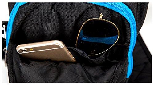BULAGE Brustbeutel Männer Frauen Freizeit Sport Geldbörsen Multifunktional Die Atmosphäre Schulter- Messenger Bequem Blue