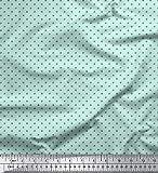 Soimoi Grun Baumwolle Ente Stoff Spirale und Streifen