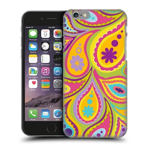 iPhone5 case-lime Big Paisley