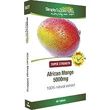 Mango Africano 5000 mg | Acelera el metabolismo basal y la pérdida de peso | Controla el apetito y favorece la pérdida de peso | 60 comprimidos