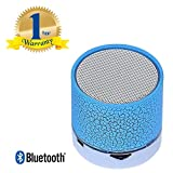 Rextan LED Bluetooth Speaker for IOS and Android Smartphones (Multicolour)