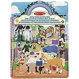 Melissa & Doug 19410 - Libro de actividades con autoadhesivos esponjosos club de equitación