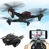 Lanspo VISUO XS809HW RC Quadcopter Wifi FPV Pliable Selfie Drone Avion (2 millions de caméras 720P) +3 Batterie (1 batterie intégrée) (quadcopter)