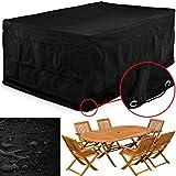 Pixnor 250* 250cm * 90cm wasserdicht Chaise Lounge Stuhl Bezüge Sofa Bezug, staubfrei, Möbel Cover (schwarz)
