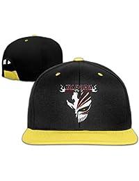 Bleach Logo Designed Unisex Child Hiphop Hat Cotton Cool Yellow