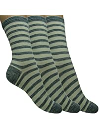 Loonysocks, 3 Pair of Our Best Socks Made of Super Soft Ascona Merino Wool Women/ Ladies, Light Grey & Raw White Socks