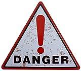 Blechschild 34x30cm - DANGER Gefahr Achtung Schild Hinweisschild verboten