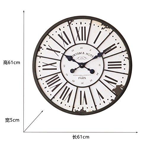 Y-Hui der Z049 Industrie Bügeleisen römische Ziffer Wanduhr Wohnzimmer Wanduhr Wanduhr gross, rund um die Uhr, die Anderen, wie in der Abbildung (11) Verkauf auf Versand