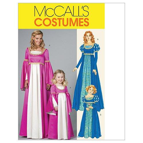 Mc Call´s Schnittmuster 6141 Kids Renaissance Kleid,Kostüm Gr. 3-8 (104-134)