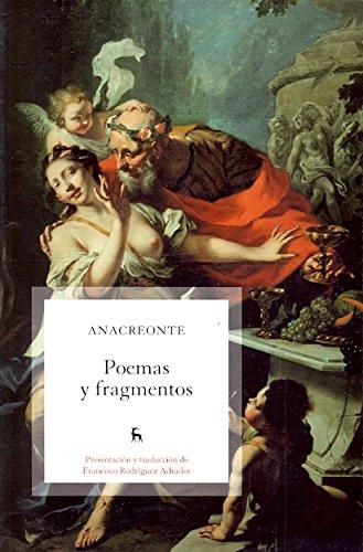 Poemas y fragmentos (VARIOS GREDOS) por Anacreonte Anacreonte