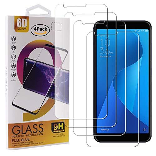 guran 4 pezzi pellicola protettiva in vetro temperato per asus zenfone max plus (m1) zb570tl smartphone 9h durezza anti-impronte hd alta trasparenza pellicola
