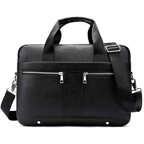 YCX Herren Business Aktentasche, Europäische Und Amerikanische Retro-Leder-Umhängetasche, Handtasche, Laptoptasche, Umhängetasche - Europäische Aktentasche
