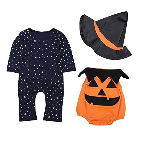 Tkria Baby Overalls Strampler Neugeborenen Kürbis Spieler Halloween kostüm Baumwolle Bekleidungssets Schlafanzüge 70 80 90 95 (Kostüm Spieler)