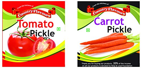 Country Flavours Combo-tomato Pickle 250 Grams & Carrot Pickle 250 Grams