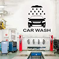 Handaxian Car Wash Service Wall Sticker Car Workshop Logo Auto Service Vinyl Decal Home Interior Decoration Waterproof High Quality59*57cm