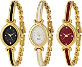 #7: Swadesi Stuff Analogue Multi-Colour Dial Luxury Bangle Watch for Women Combo of 3 (patti 3 watch)