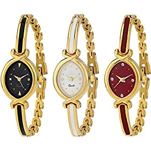 SWADESI STUFF Analogue Women's Watch (Multicolor Dial Multicolored Strap) (Pack of 3)