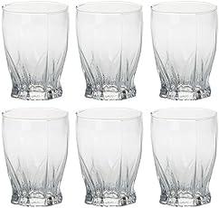 bloom Multipurpose Transparent Beverage Tumbler/Glass (Clear, 80 Oz) - Set of 6