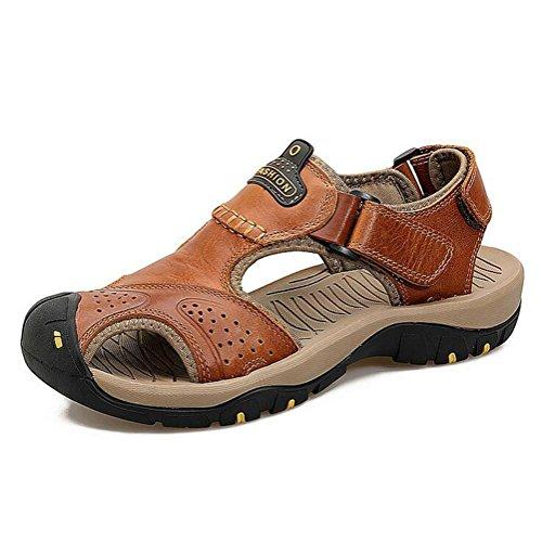 Männer Leder Sandalen Mode Wasser Schuhe Sommer weichen Rindsleder Schuhe Schuhe , brown , 39