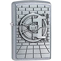 Zippo Unisex Safe with Cash Surprise Regular Windproof Lighter, Street Chrome, One Size
