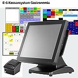 E+S Kassensystem Gastronomie inkl. Kassensoftware + Bondrucker + Fernwartung