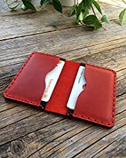 Rouge et Noir portefeuille en cuir pour carte de crédit, argent comptant ou titulaire d'identification. Po