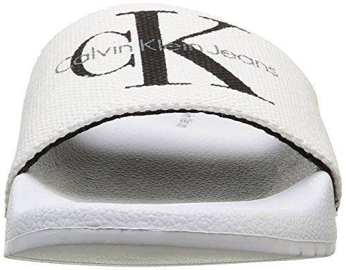 Calvin Klein Jeans Damen Chantal Heavy Canvas flip flop Weiß (Wht)