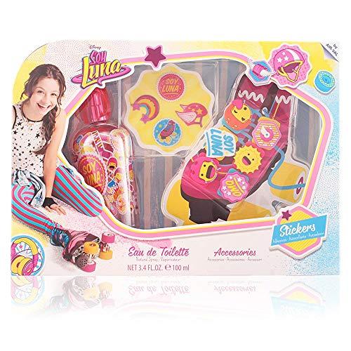 Soy Luna Coffret Eau de Toilette pour enfant 100 ml + Sticker + Décoration Lacet