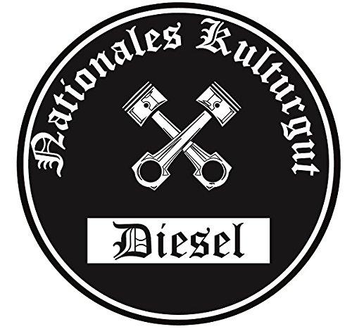 Nationales Kulturgut Diesel Aufkleber Auto Aufkleber Sticker Feinstaub Umwelt Plakette JDM Tuning TÜV LKW Lustig Fun 2 Stück! Umweltzone Fahrverbot Diesel-Fahrzeug (Diesel-lkw)