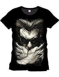 Lobezno - camiseta desafiante con las garras - cómic de Marvel - X-Men - algodón - negra