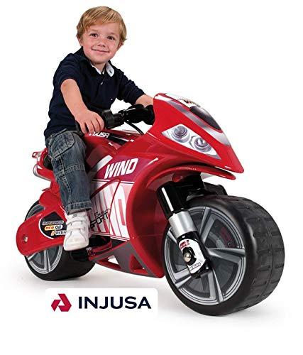 INJUSA - Moto Wind para niños de más de 3 años, batería 6V, Rojo (646)