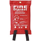 Babz Fire Blanket Large Quick Release Fighting Tabs In Case 1M X 1M
