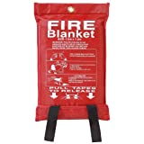 Fire Blanket Large Quick Release Fighting Tabs In Case 1 M X 1 M