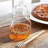 Riviera Maison - I love Honey Jar - Honigspender, Honigglas, Honigdose - Glas - mit Deckel