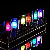 ROUHO DIY Aurora LED Colorato Luce Cubo Cromatografia Vetro Orologio Kit