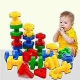 40 Stück Jumbo Nuts Schrauben Spielzeug Bausteine Sets Kinder Pädagogische Aufklärung für ab 3 Jahre alt.