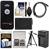 Precision Design Universal Wireless Shutter Release Remote Control With NP-FW50 Battery/Charger + Tripod + Kit For A3000
