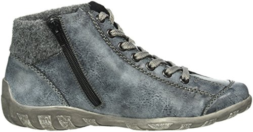 Rieker L6540, Sneaker Donna Blu (océan / Granit / Noir)