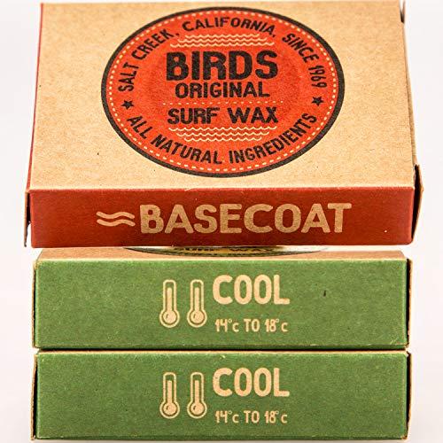 Bird's Original Californian Surf Wachs, 100% natürlich, 3er-Pack, kühl, Unterlack