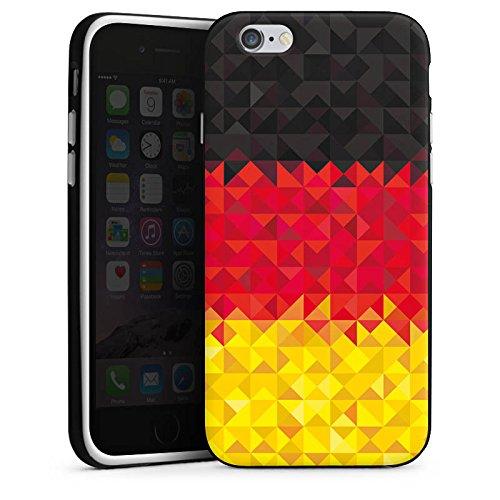 Apple iPhone X Silikon Hülle Case Schutzhülle Deutschland Flagge Dreiecke Silikon Case schwarz / weiß
