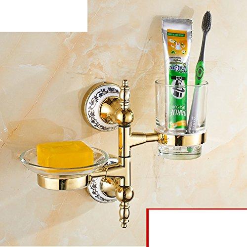 porte-gobelet de brosse à dents Continental/ Golden Soseki/ Verre porte-gobelet rotatif/Bleu et blanc porte-gobelet en porcelaine Salle de bains Activités-B