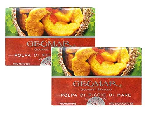 Geomar Gourmet Seafood Polpa di Riccio di Mare del Pacifico Prodotto in Cile - 2 x 90 Gram
