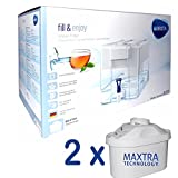 Brita Optimax Wasserfilterkanne weiß incl. 2 MAXTRA Filter