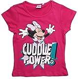 Minnie Mouse T-Shirt Kollektion 2018 Shirt 92 98 104 110 116 122 128 Mädchen Kurzarmshirt Maus (Fuchsia, 98-104)